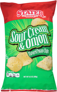Stater Bros. Sour Cream & Onion Flavored Potato Chips, 9.5 oz Bag
