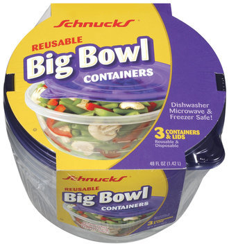 Schnucks  Big Bowl Container 3 Ct Pack