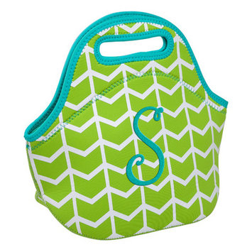 Occasionally Made Lime Geometric 'S' Insulated Lunch Bag