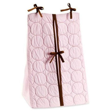 Bacati Quilted Diaper Stacker Pink & Chocolate For Baby