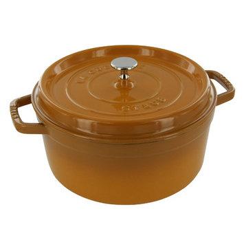 Staub 4-qt. Round Cocotte with Lid Finish: Saffron