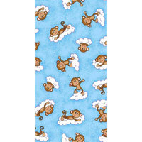 Stwd Monkeys Fitted Cradle Sheet