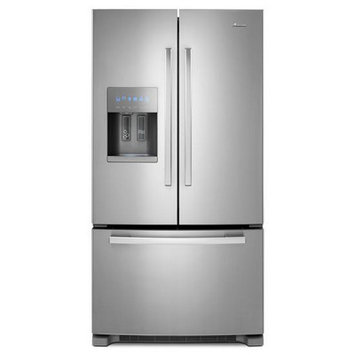Amana Refrigerator 24.7 cu. ft. French Door Refrigerator in Monochromatic Stainless Steel AFI2539ERM