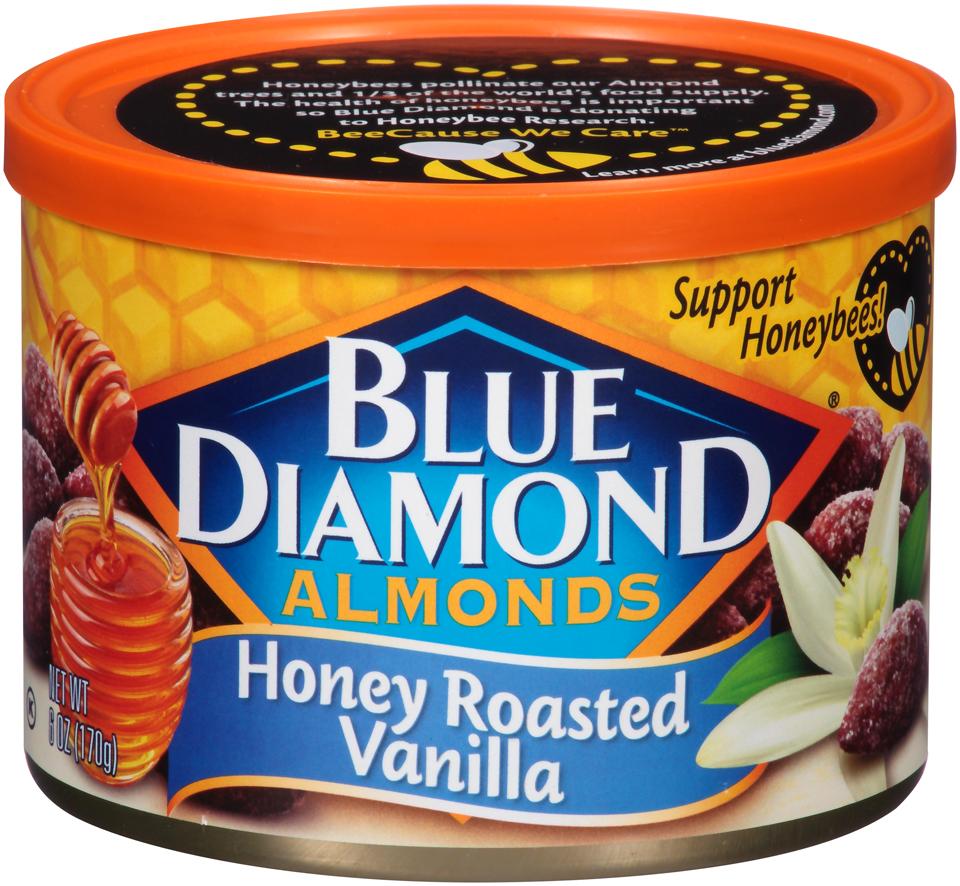 Blue Diamond® Honey Roasted Vanilla Almonds 6 oz. Canister
