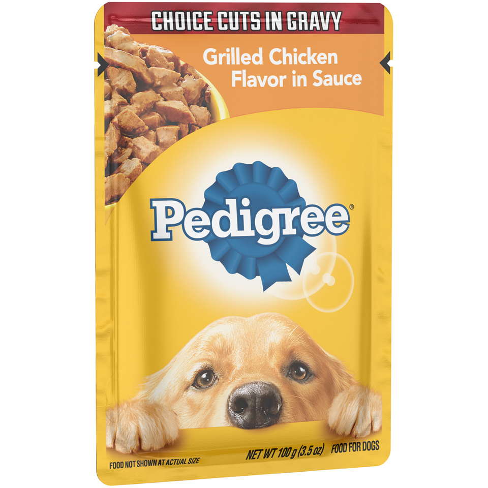 Pedigree® Choice Cuts in Gravy Grilled Chicken Flavor in Sauce Wet Dog Food 3.5 oz. Pouch