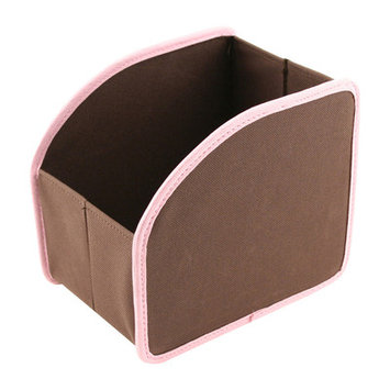 Neatnix SCSM-11 Stuff Cubby - Small - Brown with Light Pink