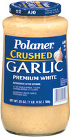 Polaner Crushed Premium White Garlic 25 Oz Jar