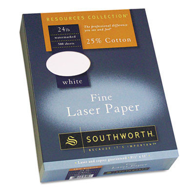 Southworth Resources Collection Laser Paper White, 24 lb, 8 1/2 x 11
