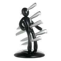 The EX By Raffaele Iannello The Ex 2nd Edition Five Piece Knife Set with Holder in Blue (Set of 5)