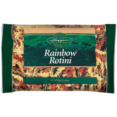 Haggen Rainbow Rotini Pasta 16 Oz Bag