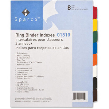 Sparco SPR01810 Non-Insertable Poly Indexes Pack of 8