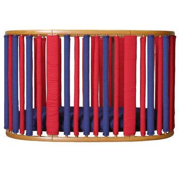 Go Mama Go Stokke Wonder 44 Piece Crib Set Color: Navy / Red
