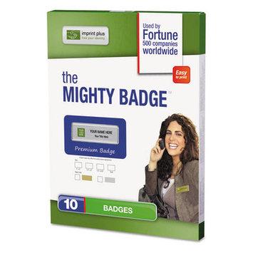 The Mighty Badge NAME BADGE REFILL KIT, SILVER, INKJET, 1 X 3, 10 PER KIT