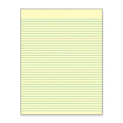 Tops Business Forms Glue Top Pad, Wide Ruled, 8-1/2
