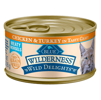 THE BLUE BUFFALO CO. BLUE™ Wilderness® Wild Delights™ Chicken & Turkey Recipe For Adult Cats