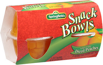 Springfield® Yellow Cling Diced Peaches Snack Bowls 4 oz. Bowls