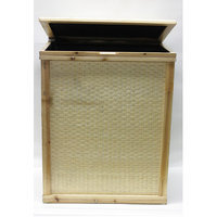 Destidesign Bamboo Rectangle Hamper with Cloth Lining