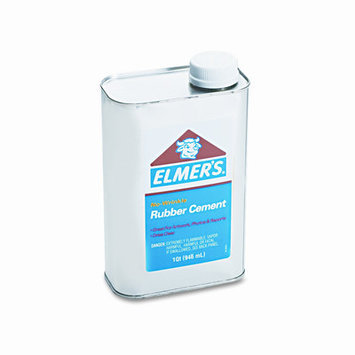 Elmers Elmer's No-Wrinkle Rubber Cement - Pint - Clear