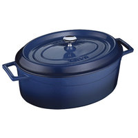 Lava Cookware Lava Dutch Ovens Signature 5 qt. Enameled Cast Iron Oval Dutch Oven in Cobalt Blue LVOTC29K2BLU
