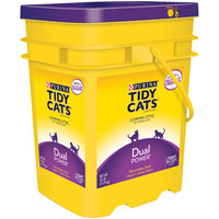 Purina Tidy Cats Clumping Litter Dual Power for Multiple Cats 35 lb. Pail
