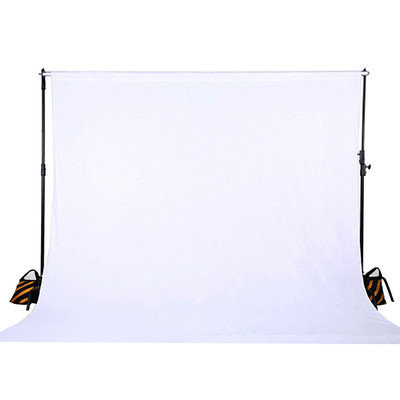Square Perfect 10 x 20 Ft. White Muslin Photo Backdrop Photography Background