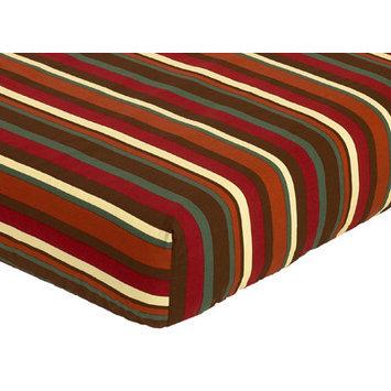Jo Jo Designs Sweet Jojo Designs Monkey Collection Fitted Crib Sheet - Stripe Print