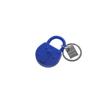 Areaware Lock Keychain Color: Blue