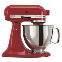 KitchenAid Artisan Series 5 qt. Stand Mixer in Empire Red with Additional Glass Bowl KSM150PSER 3 KIT