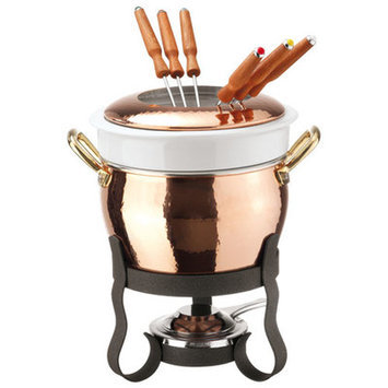 Paderno World Cuisine 15430-11 Copper Fondue Set
