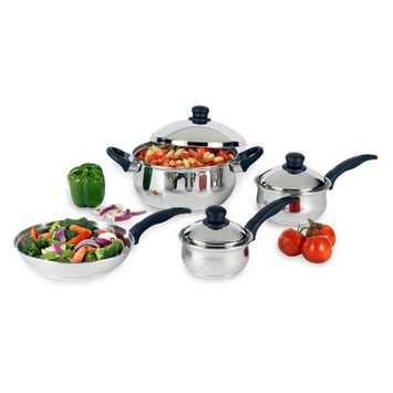 Heuck 7-Piece Cookware Set with Phenolic Handles, Stainless Steel