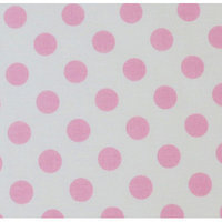 Stwd Polka Dots Travel Crib Light Fitted Sheet Color: Baby Pink