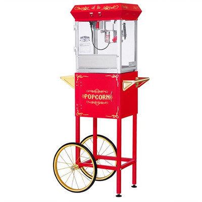 Great Northern Popcorn Company All Star GNP-400 4-oz. Red Popcorn Popper & Cart