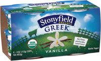 Stonyfield Organic™ Greek Vanilla Nonfat Yogurt 4-4 oz. Cups