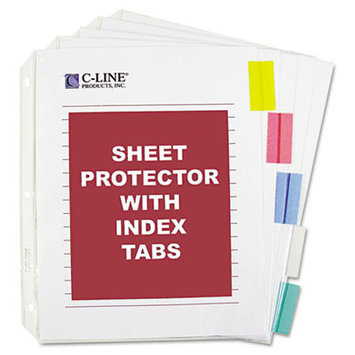 C-Line Sheet Protector with Index Tabs And Inserts