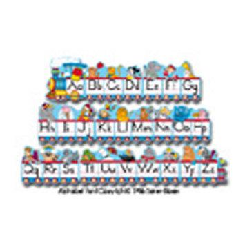 Carson-dellosa Publishing Alphabet Train Set, 12 1/2'x1', 2 Illustrations/Letter