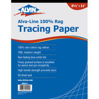 Alvin & Company Alvin 6855-P-1 Papr Trac 8 1-2x11 50-sht Pad