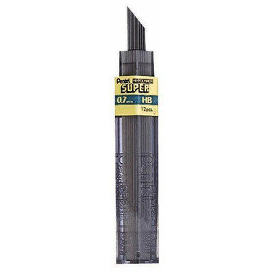 Pentel Super Hi Polymer Lead Point Size: 0.7mm, Lead type: F