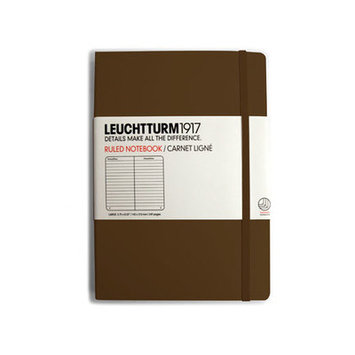 Kikkerland Hard Cover Pocket Ruled Notebook Color: Brown