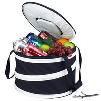 Picnic at Ascot Compact Pop-Up Cooler, Navy/White