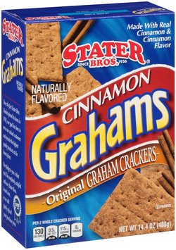 Stater Bros.® Cinnamon Grahams Original Graham Crackers 14.4 oz. Box