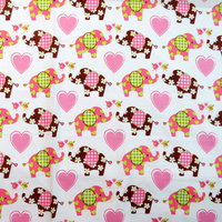 Stwd Elephant Love Portable Mini Fitted Crib Sheet