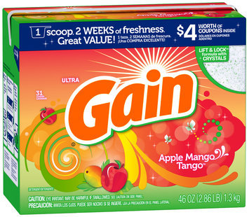 Gain® Ultra Apple Mango Tango with FreshLock Powder Laundry Detergent 46 oz. Box