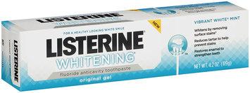 Listerine® Whitening® Vibrant White® Mint Original Gel Toothpaste 4.2 oz Tube