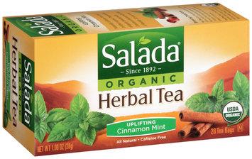Salada® Uplifting Cinnamon Mint Organic Herbal Tea 1.00 oz. Box