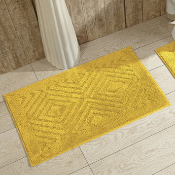 Better Trends Trier Bath Rug Color: Yellow