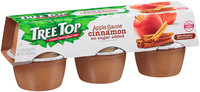 Tree Top® No Sugar Added Cinnamon Apple Sauce 6-4 oz. Cups