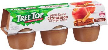 Tree Top® No Sugar Added Cinnamon Apple Sauce 6-4 oz. Cups