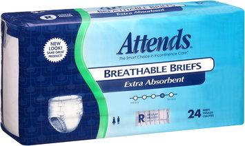 BRBX25 Attends® Extra Absorbent Briefs, Regular, 24 count Pack