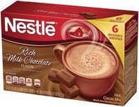 Nestlé HOT COCOA Mix Rich Milk Chocolate Flavor 4.27 oz Box, 12 count