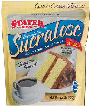 Stater Bros. Sucralose Granulated Sweetener 9.7 Oz Zip Pak
